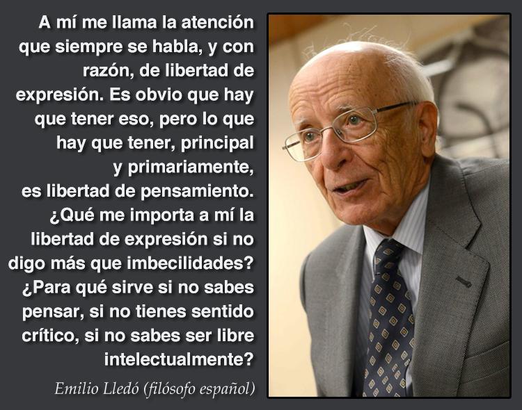 Frase de Emilio Lledó